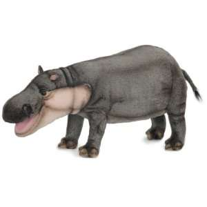 Hansa Hippopotamus Stuffed Plush Animal, Standing   Small