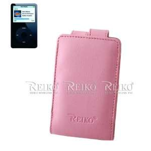 New Fashionable LEATHER Case IPLC001 IPOD VIDEO PINK Cell