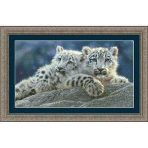 Snow Leopard Cubs   Cross Stitch Pattern Arts, Crafts