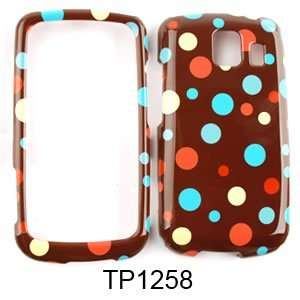 LG Vortex VS660 Little Tiny Polka Dots on Brown Hard Case/Cover