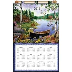Cabin By The Lake 2011 Jeweled FeLight Applique Calendar Kit