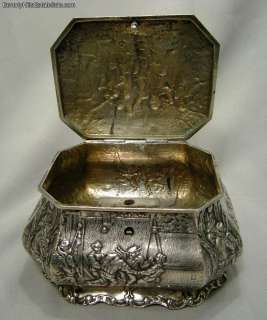 Antique 800 Silver opean Tea Caddy