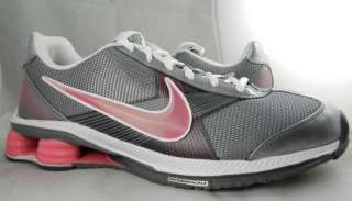 NIKE SHOX FLY ZIPSISTER+ NEW Womens Pink Grey iPod Ready Running Shoes