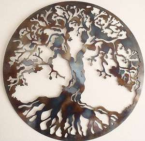 Tree Of Life, HEAT COLORED, Metal Wall decor, Metal Art