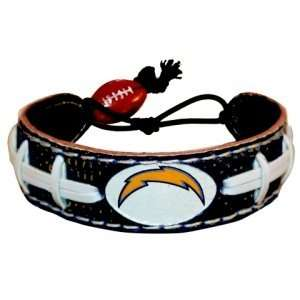 San Diego Chargers Team Color Football Handmade Seam Bracelet Genuine