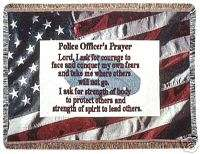 POLICE OFFICERS PRAYER TAPESTRY THROW/WALL HANGING