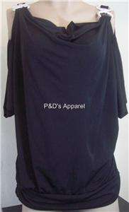 New Julies Closet Womens Plus Size Clothing Black Shirt Top Blouse 1X
