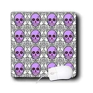 Dead Skull Día de los Muertos Sugar Skull Print Purple   Mouse Pads