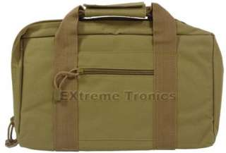 TAN Discreet Nylon Padded Pistol Hand Gun Storage Case Bag 13 x 8.5