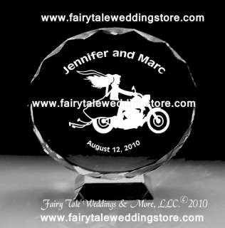 Motorcycle Wedding Couple Cake Topper Personalized Bike