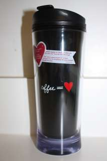 New Starbucks Valentine 2012 Thermo Ink Tumbler Red Heart 12oz
