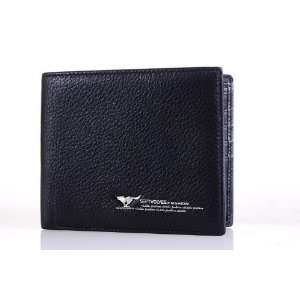 Black Leather Multi Function Wallet & Credit Card Holder Everything