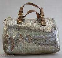 Michael KORS Grayson LIGHT GOLD Mirror Monogram LARGE SATCHEL Bag $298