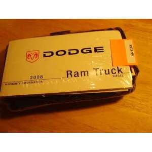2008 Dodge Ram Diesel Truck Owners Manual: Dodge: Books