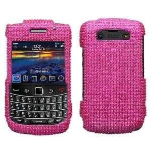 BlackBerry Bold 9780 Full Diamond Bling Hot Pink Hard Case