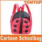 Kids Cartoon Nursery Backpack Lunch Bag Red Ladybug