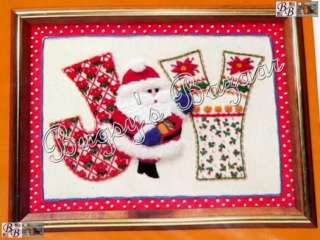 Creative Circle SANTA'S JOY Crewel Embroidery Christmas Picture Kit