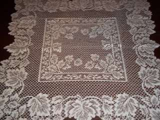 WHITE SQUARE TABLE LARGE DOILY LACE 30 X 30 WTDF115