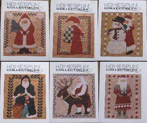 Homespun Collectibles Santa Claus Designs Counted Cross Stitch Pattern