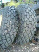 TWO USED 18.4X26 10 PLY TURF TRACTOR TIRES MOUNTED ON JOHN DEERE RIMS
