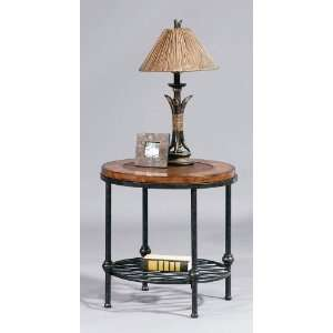 : Round End Table W/Shelf   Bassett Mirror T1062 220: Home & Kitchen