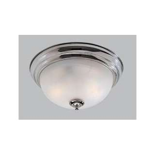 NEW 2 Light Flush Mount Ceiling Lighting Fixture, Polished Chrome