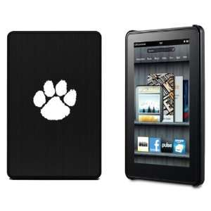 Kindle Fire hard back case cover with aluminum plating G11 Paw Print