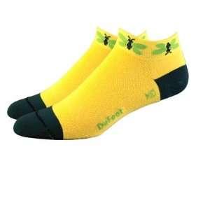 DeFeet Womens Speede Flutter Butter Cycling/Running Socks