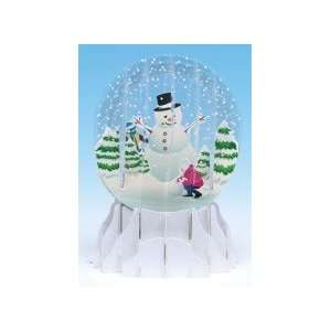 Christmas Greeting Card Pop up 3 d Snow Globe Holiday