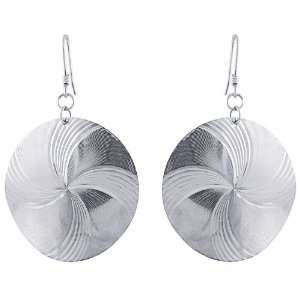 Gold Plated Sterling Silver Fancy Spiral Design Earrings Jewelry
