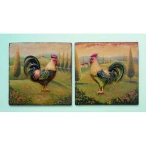 Rooster Metal 3D Wall Hanging Home & Kitchen