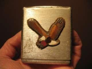 Vintage Eagle Metal Cigarette Case Found In Harley Davidson Motorcycle