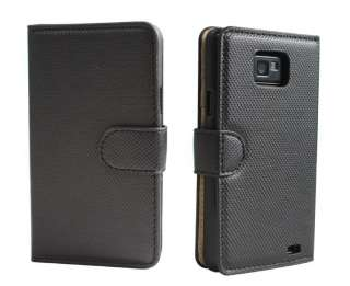 Stylish Folio Wallet Leather case cover for SamSung Galaxy S2 i9100 in