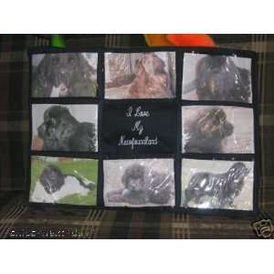 I Love My Newfoundland Dog Personalized Photo Tote Bag
