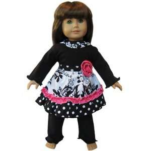 Damask Dress Clothes fits American Girl Doll clothing Toys & Games