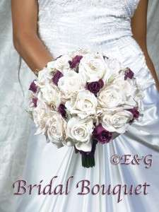 ANGELINA PLUM Wedding Bouquets Bouquet Bridal Bridesmaids Flowers Silk