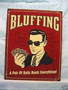 poker cards novelty tin metal sign hold em bar decor
