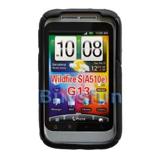 New Black GEL TPU COVER CASE SKIN For HTC Wildfire S