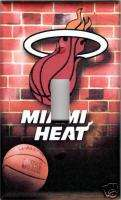 NBA Miami Heat Single Light Switch Plate Cover