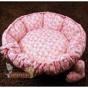 Sweet Princess Dog Cat Handmade Bed Round Garden Design