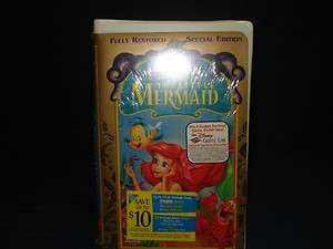 NEW Disney Little Mermaid Kids VHS Factory Sealed 1998