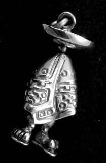 MEXICAN STERLING SILVER LITTLE MAN BIG TOES SOMBRERO CHARM 15520