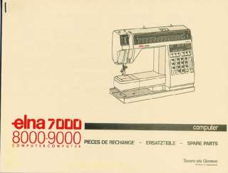 Elna 9000 /DIVA Sewing Machine Service Manual and Spare Parts books