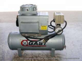 GAST Oil less Vacuum Pump & Tank DOA P113 DB
