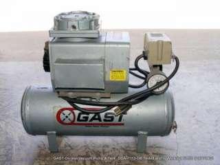 GAST Oil less Vacuum Pump & Tank DOA P113 DB FREE SHIPPING!