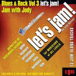 Let's Jam CD Blues & Rock Vol. 3 by Jody Worrell is an audio CD
