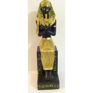 Enlarge 8.5 Black Gold Tone Egyptian Egypt Pharaoh