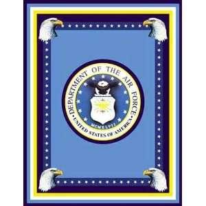 60 Wide Military Fleece Panel U.S. Air Force Seal Fabric