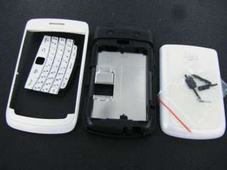 White RIM BlackBerry Bold 9700 Full Housing Case Cover