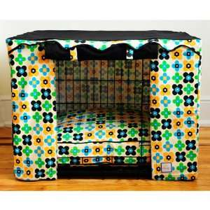Quattro Leaf Dog Crate Cover   Medium